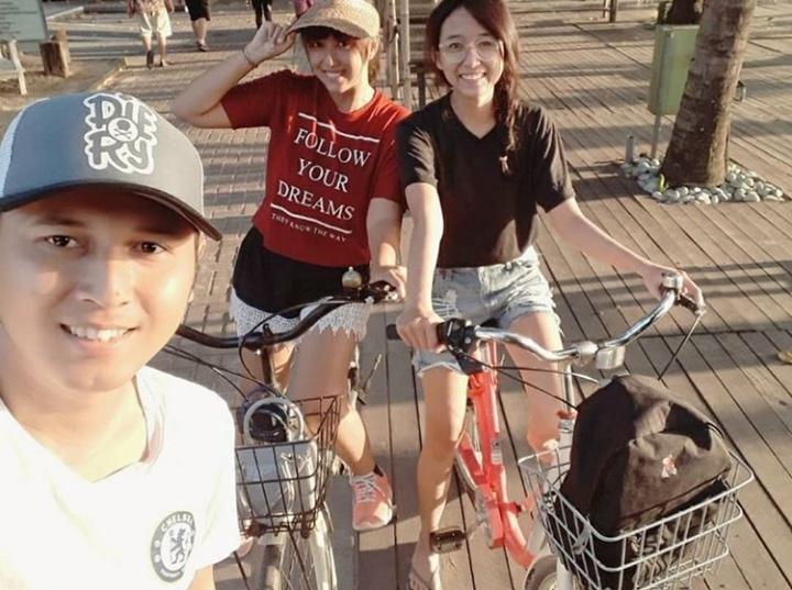 Biking in Sanur Bali